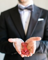 Bright lobster bottle opener wedding favors