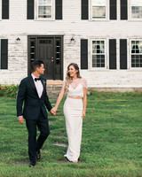 vanessa steven wedding couple house hand holding
