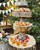 cider and doughnut station