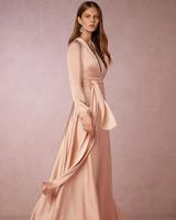 winter bridesmaid dress bhldn henrietta blush