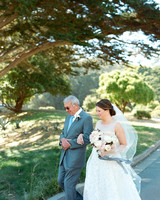 bride and father processional