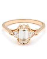 Anna Sheffield Emerald-Cut Engagement Ring
