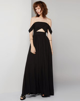 black bridesmaid dress