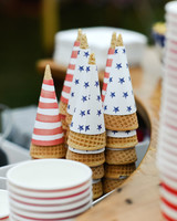 patriotic party ice cream cones