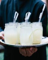 server serving lemonade