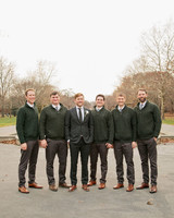 groom groomsman hunter green irish attire