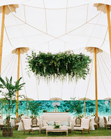 dani jackson wedding reception lounge in tent