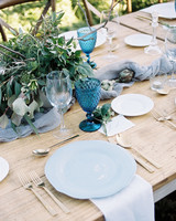 daphne jack wedding spain blue place setting