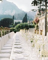 Long and Elegant White Reception Table