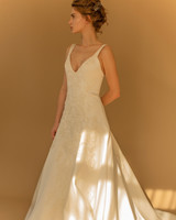 francesca miranda wedding dress fall 2018 v-neck sleeveless a-line