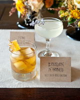 Honeycomb Wedding Inspiration, Signature Cocktail with Fresh Honeycomb in Drink
