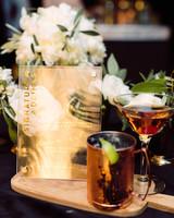 jamie jon wedding cocktail drinks and sign