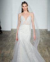 hayley paige fall 2018 spaghetti trumpet wedding dress
