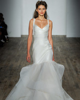 hayley paige fall 2018 chiffon trumpet wedding dress