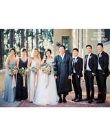 Steven Yeun Walking Dead Wedding, bridal party