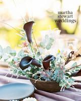 steven yeun walking dead wedding flowers on table