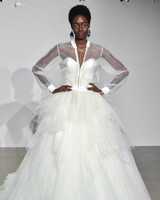 justin alexander fall 2018 sweetheart sheer jacket wedding dress