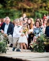 kayla michael wedding processional children