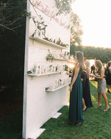 kendall nick wedding escort bottle wall
