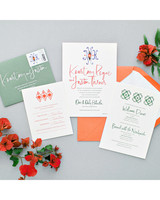 kourtney justin wedding mexico stationery