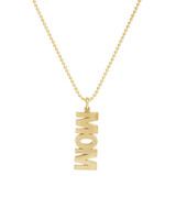 "Gold ""Mom"" Pendant Necklace, Jennifer Meyer"