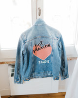 denim jacket with decal