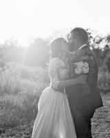 rachel elijah wedding couple kiss