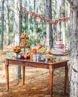 Fantastic Mr. Fox inspired reception dessert table