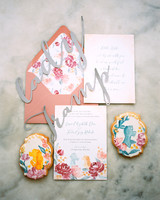 Lady and the Tramp-themed wedding invites