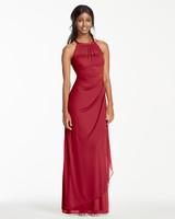 red bridesmaid dress davids bridal F15662 mesh