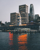 san francisco ferry building on the water