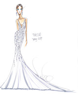 theia wedding dress sketch