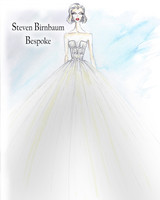 steven birnbaum bespoke wedding dress sketch