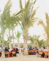 wedding reception beach