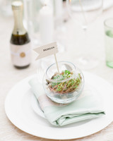 terrarium wedding ideas place cards