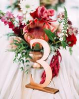 yolana douglas wedding reception table numbers