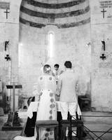 alexis zach wedding italy ceremony black white