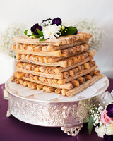churros cake layers flowers wedding