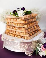 churros cake layers flowers wedding