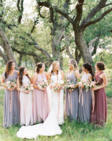 amanda chuck wedding mismatched bridesmaids dresses