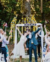 amy nick wedding ceremony married kiss