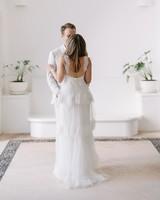 ariel trevor wedding tulum mexico first look couple bride groom