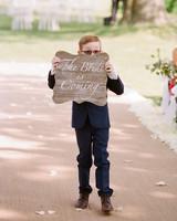 ashlie adam alpert wedding ring bearer sign