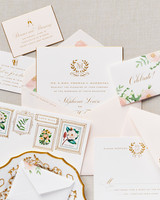 invitation suite with envelope details