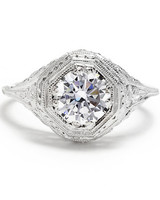 Beverly K vintage engagement ring with filigree