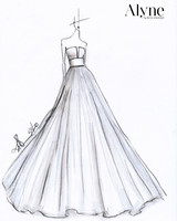 alyne by rita vinieris spring 2020 wedding dress sketch