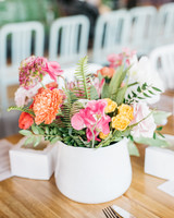 bridal shower centerpiece with carnations