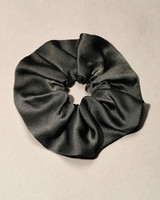 bridesmaid gift black silk scrunchie