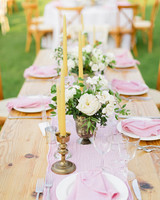 brittany craig wedding centerpiece and runner
