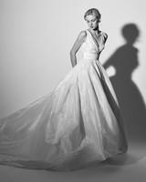 v-neck ball gown Carolina Herrera Wedding Dress Spring2018